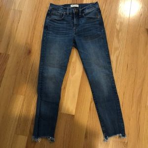 "Madewell 9"" high rise skinny crop jeans"
